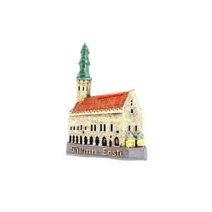 Handmade ceramic fridge magnet Town Hall Tallinn