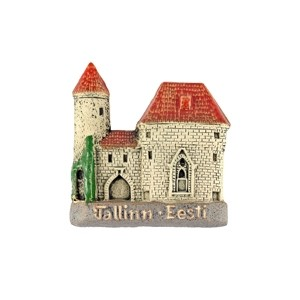 Handmade ceramic fridge magnet Viru Gates Tallinn