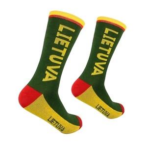 Men's green socks Lietuva, size:(41-46)