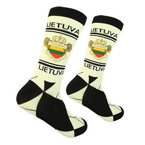 White/Black Men's socks Lithuania size:(41-46)