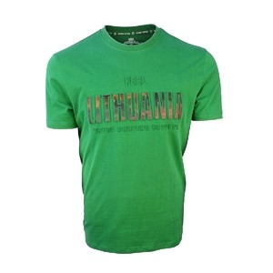 T-shirts Feel Lithuania green color - Robin ruth