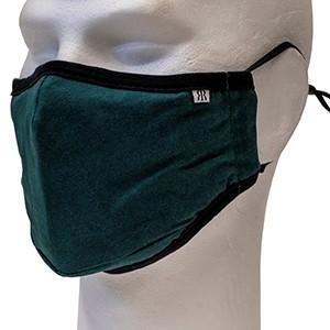 Green/blue melange face mask Robin Ruth