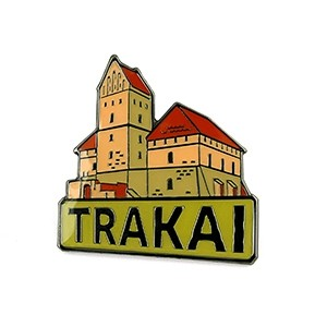 Metal pin Trakai