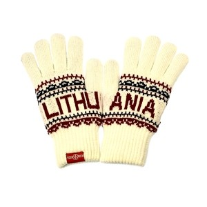 White color winter gloves Lithuania - Robin Ruth