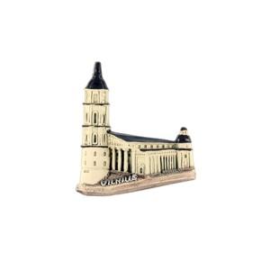 Hand made ceramic magnet Archcathedral Basilica, Vilnius