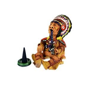 Incense burner, figure - Indian