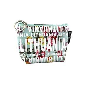 Light green flowered wallet Lithuania