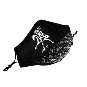 "Fashionable face cover mask ""Vytis"" black color"