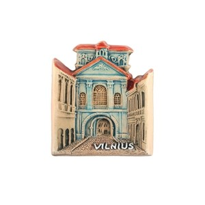Hand made ceramic magnet The Chapel of Gates of Dawn, Vilnius