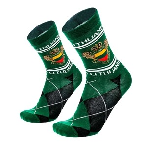 Men's green socks Lithuania size:(40-45)