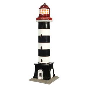 Hand made ceramic lighthouse candle holder – Riga Daugavgriva Latvia