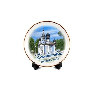 Porcelain plate with magnet Druskininkai Orthodox church