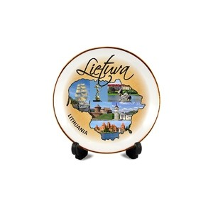 Porcelain plate with magnet Lietuva