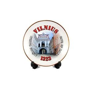 Porcelain plate with magnet Vilnius Ausros gates