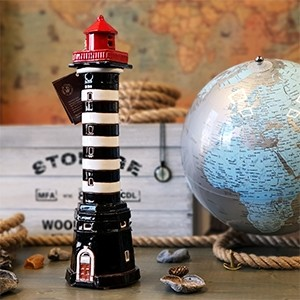 Hand made ceramic lighthouse candle holder – Klaipeda Lithuania