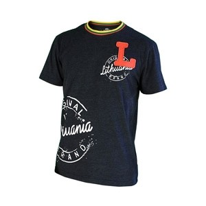 Black color t-shirt Lithuania L - Robin Ruth
