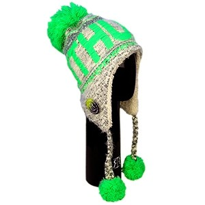 Winter hat Lithuania green neon - Robin Ruth