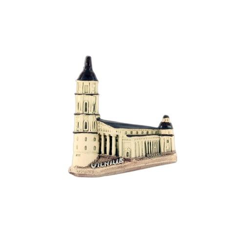 Rankų darbo keramikinis magnetas Vilnius Arkikatedra