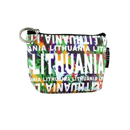 Žalios spalvos gėlėta piniginė Lithuania