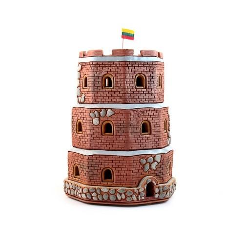 Rankų darbo keramikinė žvakidė Gedimino pilis