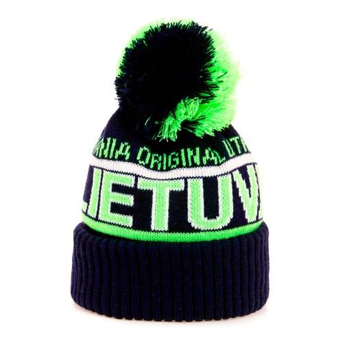 Trumpa žieminė kepurė LIETUVA - Robin Ruth Mėlyna