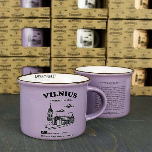 Mažas violetinis puodelis Vilnius Arkikatedra 150ml
