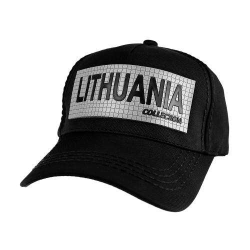 Juodos spalvos kepurė su snapeliu Robin Ruth Lithuania Collection