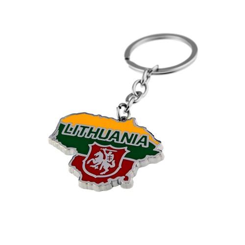 Metalinis raktų pakabukas LITHUANIA