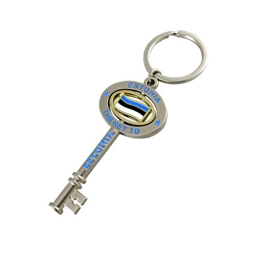 Metalinis raktų pakabukas The key to Estonia