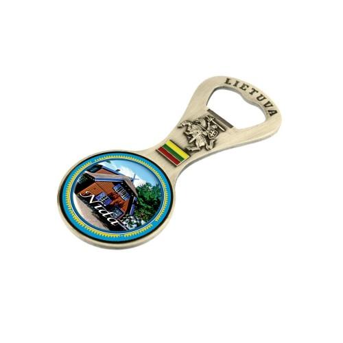 Metalinis magnetas - butelio atidarytuvas Nida Tomo Mano namas