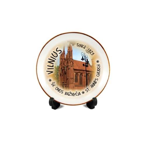 Porcelianinė lėkštutė su magnetu Vilnius - Onos bažnyčia