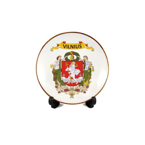 Porcelianinė lėkštutė su magnetu Vilnius