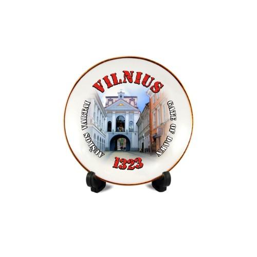 Porcelianinė lėkštutė su magnetu Vilnius - Aušros vartai