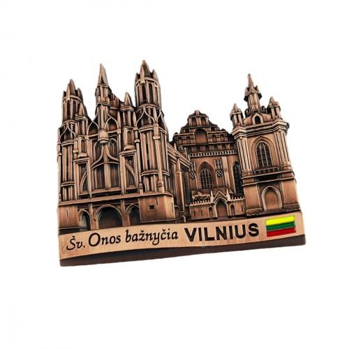 Suvenyras metalinis šaldytuvo magnetas - Vilnius Onos bažnyčia