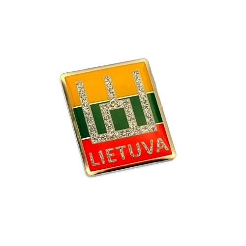 Metalinis ženkliukas Lietuva Gedimino stulpai