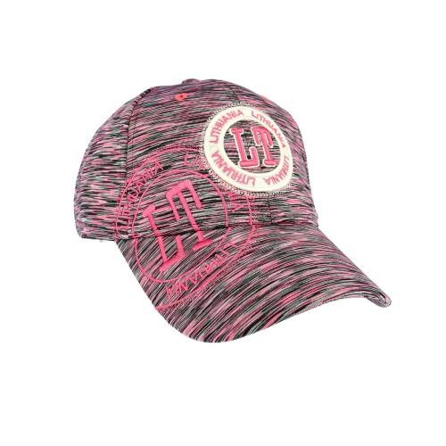 Sportinio stiliaus, kanapėta kepurė LT Lietuva, fuksija