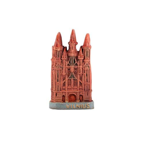 Rankų darbo keramikinis magnetas Onos bažnyčia