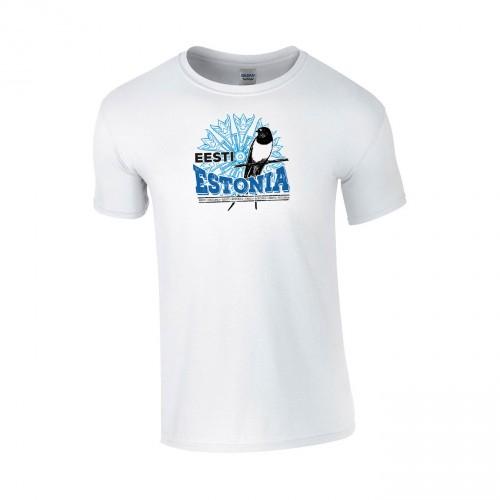 Medvilniniai marškinėliai Eesti Estonia
