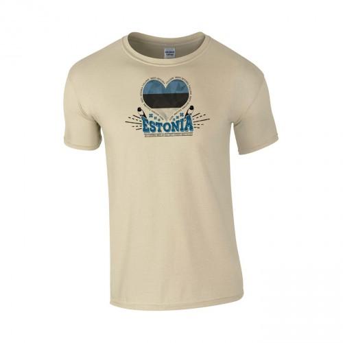 Medvilniniai marškinėliai Estonia Love