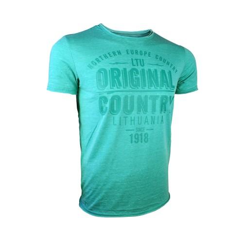 Vyriški žali marškinėliai Lithuania Original Country - Robin Ruth