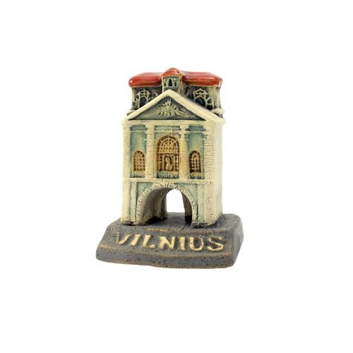 Rankų darbo keramikinė miniatiūra Aušros vartai