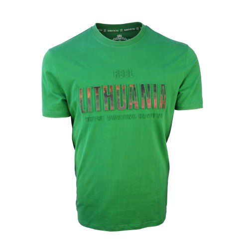 Marškinėliai Feel Lithuania žali Robin Ruth