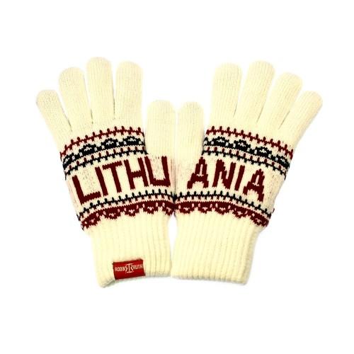 Šiltos žieminės, baltos spalvos pirštinės Lithuania - Robin Ruth