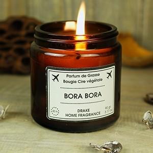 """Natūralaus vaško aromatinė žvakė """"BORA BORA"""""""