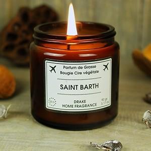 """Natūralaus vaško aromatinė žvakė """"SAINT BARTH"""""""