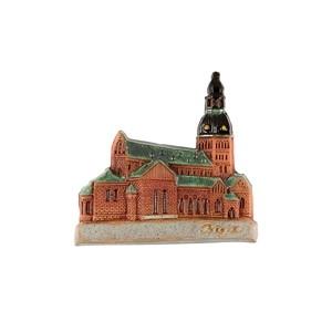Rankų darbo keramikinis magnetas Domo katedra, Ryga