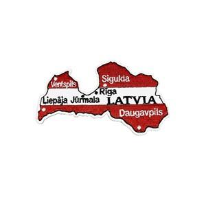 Antsiuvas - Latvijos žemėlapis