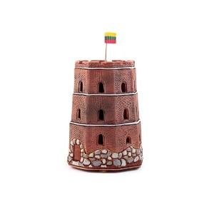 Rankų darbo keramikinė maža Gedimino pilis