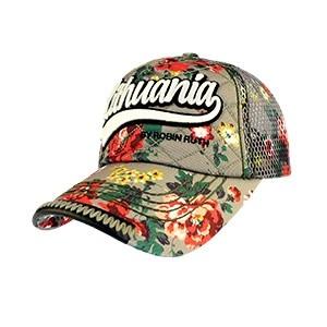 Gėlėta kepurėlė su tinkleliu