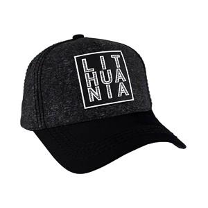 Tamsi kanapėta kepurė su juodu snapeliu Lithuania
